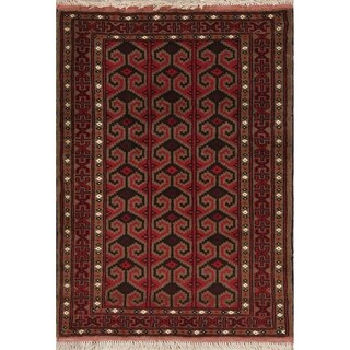 "Balouch Geometric Handmade Wool Persian Oriental Area Rug - 3'8"" x 2'8"""