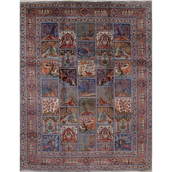 "Kashmar Garden Design Handmade Wool Persian Oriental Area Rug - 12'4"" x 9'8"""