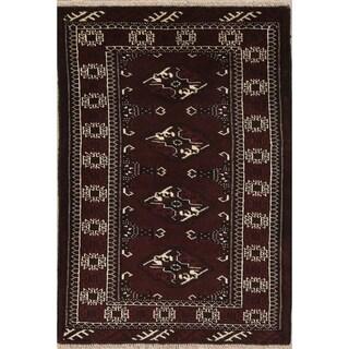 "Balouch Geometric Handmade Wool Persian Oriental Area Rug - 4'0"" x 2'9"""
