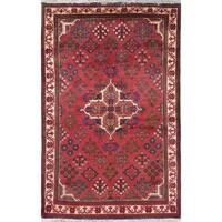"Meymeh Geometric Handmade Wool Persian Oriental Area Rug - 5'5"" x 3'7"""