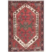 "Hamedan Geometric Handmade Wool Persian Oriental Area Rug - 4'11"" x 3'7"""