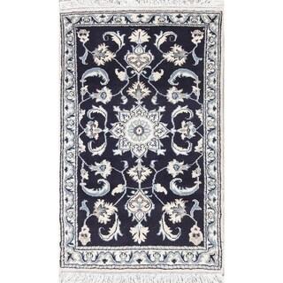 "Nain Geometric Handmade Wool Persian Oriental Area Rug - 4'5"" x 2'8"""