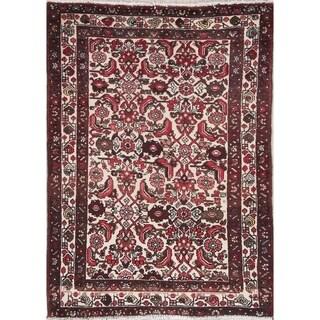 """Malayer Geometric Handmade Wool Persian Oriental Area Rug - 4'11"""" x 3'7"""""""