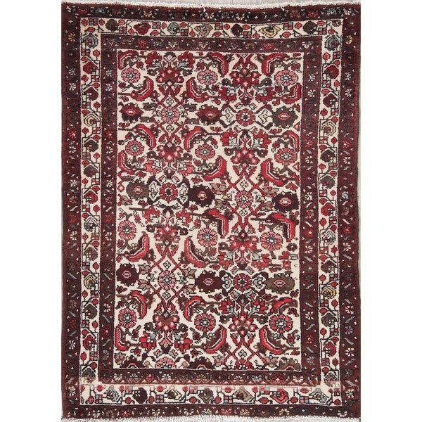 "Malayer Geometric Handmade Wool Persian Oriental Area Rug - 4'11"" x 3'7"""