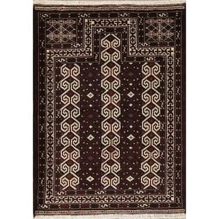 "Balouch Geometric Handmade Wool Persian Oriental Area Rug - 4'1"" x 3'0"""