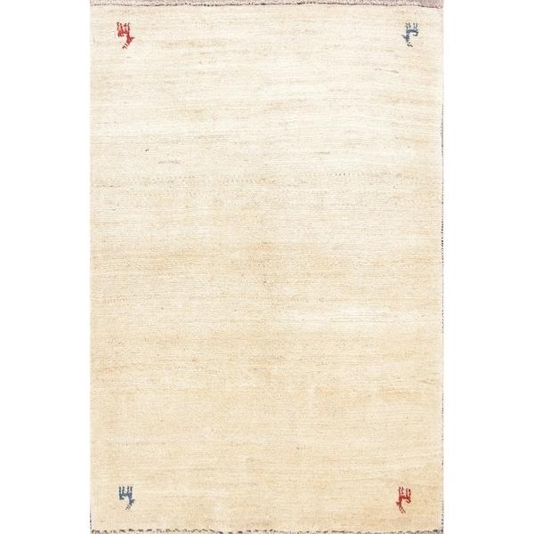 "One of a Kind Gabbeh Tribal Handmade Wool Persian Oriental Area Rug - 4'11"" x 3'4"""