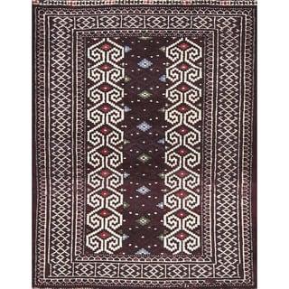 "Balouch Geometric Handmade Wool Persian Oriental Area Rug - 3'9"" x 2'10"""