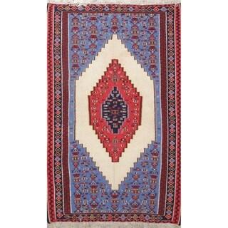"Senneh Geometric Hand-Woven Wool Persian Oriental Area Rug - 7'5"" x 4'7"""