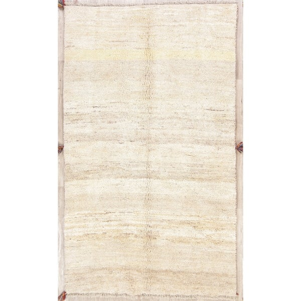 """One of a Kind Gabbeh Solid Handmade Wool Persian Oriental Area Rug - 7'5"""" x 4'5"""""""