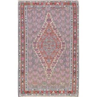 "Senneh Tribal Geometric Hand-Woven Wool Persian Oriental Area Rug - 7'6"" x 4'9"""