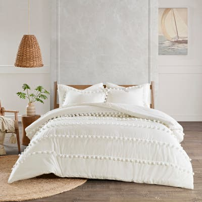 Madison Park Tracie Pom Pom Cotton Comforter Set