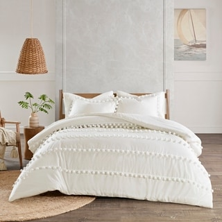 Link to Madison Park Tracie Pom Pom Cotton Comforter Set Similar Items in Comforter Sets