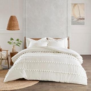 Madison Park Tracie Pom Pom Cotton Comforter Set 2-Color Option