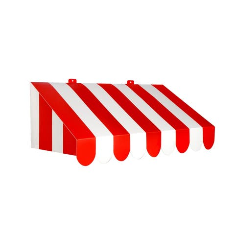 "Beistle 3D Red and White Circus Awning Wall Decoration, 24.75"" x 8.75"" - 6 Pack (1/Pkg)"