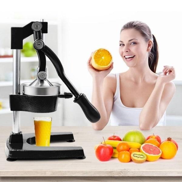 Heavy Duty Commercial Manual Press Citrus Fruit Juicer Squeezer (Black)