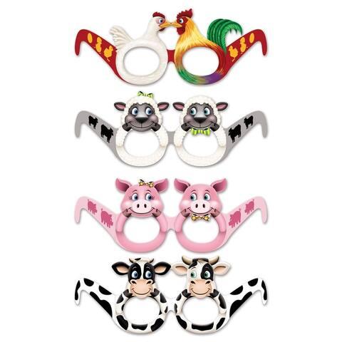 Beistle Farm Animal Party Eyeglasses - (12/Pkg)
