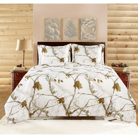Realtree Bright Snow Comforter Set