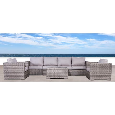 Double Club 7 Piece Sectional Set with Cushions