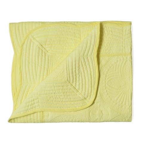 Cotton Solid Embroider Quilt Toddlers and Baby Blanket Gift for Newborn babies