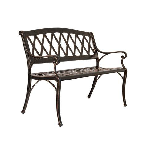 Hargrove Cast Aluminum Patio Bench