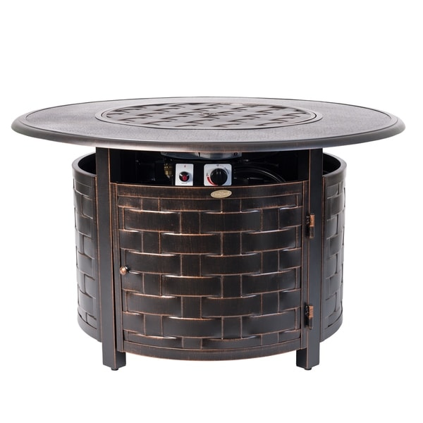 Armstrong Round Aluminum LPG Fire Pit - N/A