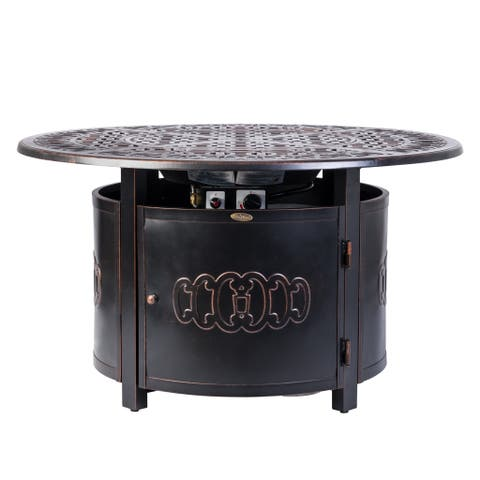 Dynasty Round Aluminum LPG Fire Pit - N/A