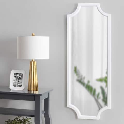 Carson Carrington Ulfhestra Full Length Framed Scallop Wall Mirror - 18x48