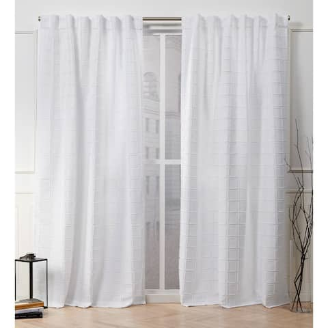 Nicole Miller Helix Hidden Tab Top Curtain Panel Pair