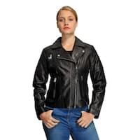 Michael Kors Plus Size Moto Leather Jacket