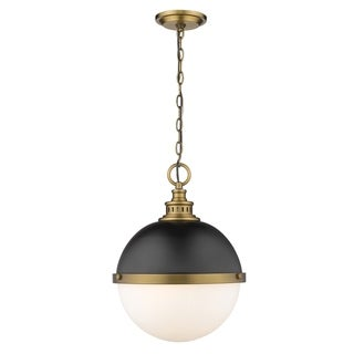 Link to Peyton 2 Light Pendant in Matte Black + Factory Bronze Similar Items in Pendant Lights