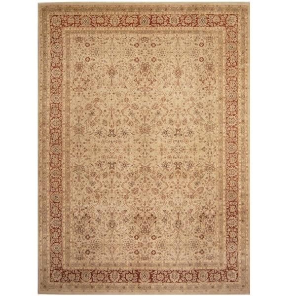 Handmade Vegetable Dye William Morris Wool Rug - 10' x 14'