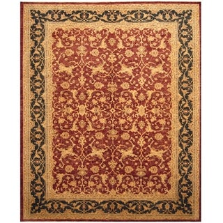 Handmade Vegetable Dye Oushak Wool Rug (Afghanistan) - 10'3 x 12'8