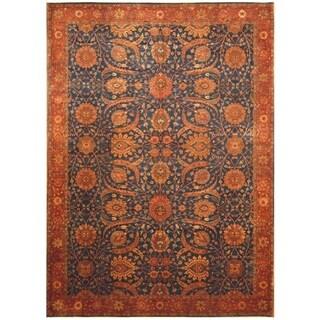 Handmade Vegetable Dye William Morris Wool Rug - 10'2 x 14'3