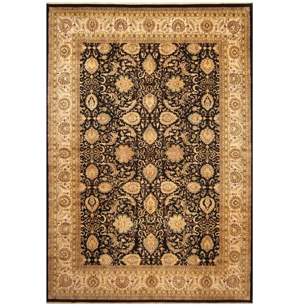 Hand Knotted Persian Tabriz Wool Area Rug Ebth: Shop Herat Oriental Indo Hand-knotted Vegetable Dye Tabriz
