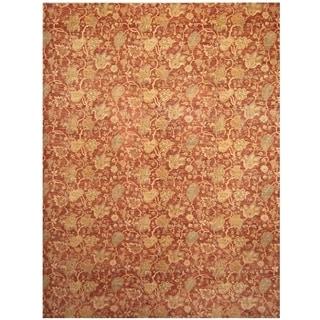 Handmade One-of-a-Kind Vegetable Dye William Morris Wool Rug (Afghanistan) - 10' x 13'4