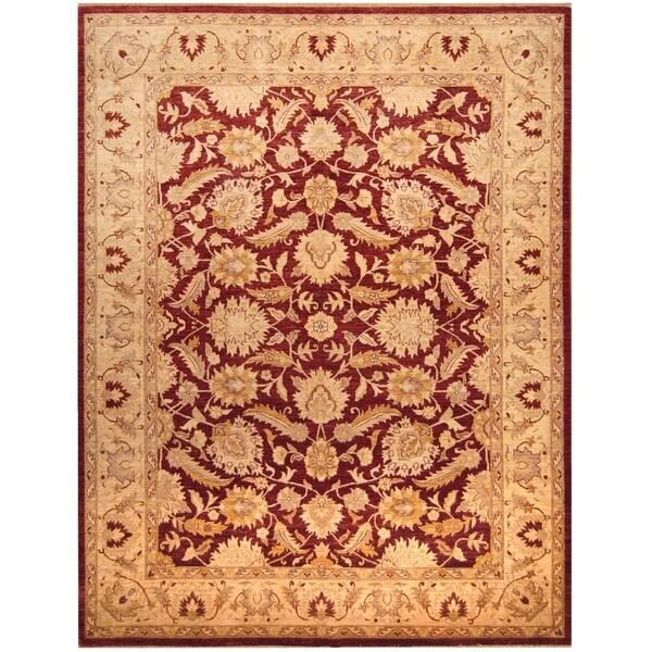 Handmade Vegetable Dye Oushak Wool Rug (Afghanistan) - 9'10 x 12'10