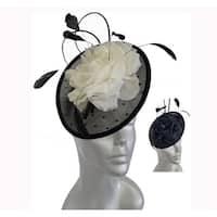 Women's feather bow designer Kentucky Derby cocktail fascinator Hat