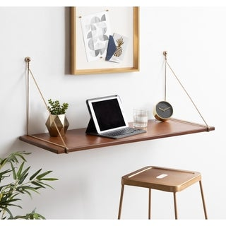 Link to Kate and Laurel Vista Wood Wall-mounted Desk Shelf Similar Items in Computer Desks