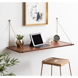Link to Kate and Laurel Vista Wood Wall-mounted Desk Shelf Similar Items in Home Office Furniture