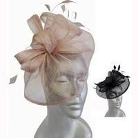 Women's lightweight special occasion straw pillbox Hat