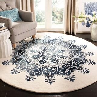 Safavieh Handmade Dip Dye Vintage Geometric Wool Rug - 7' x 7' Round