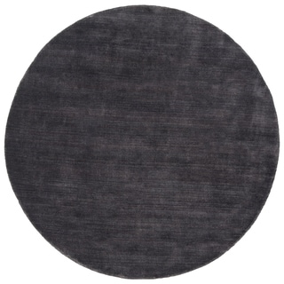 Shop Hand Loomed Clayton Solid Wool Round Area Rug 6