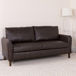 Upholstered Plush Pillow Back Sofa - Living Room Furniture
