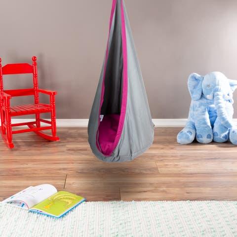 Porch & Den Chicory Kid's Padded Hanging Hammock Pod