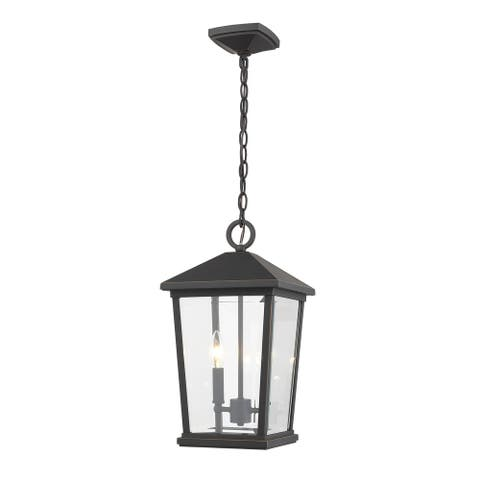 Beacon 2 Light Outdoor Chain Mount Ceiling Fixture in Oil Rubbed Bronze