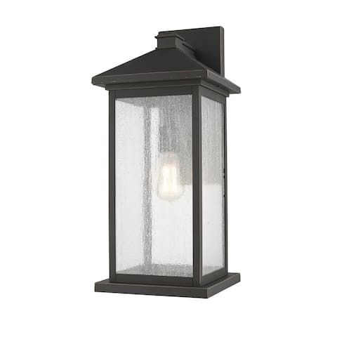 Portland 1 Light Outdoor Wall Sconce in Oil Rubbed Bronze
