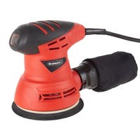 Stalwart Orbital Sander 2-amp Handheld Corded Woodworking Electric Power Tool with Dust Extraction System