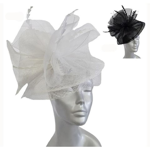 Women's Oversized Bow Fascinator Hat for Wedding Derby