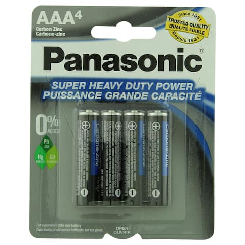 Panasonic Batteries AAA 4-Pack Super Heavy Duty Batteries