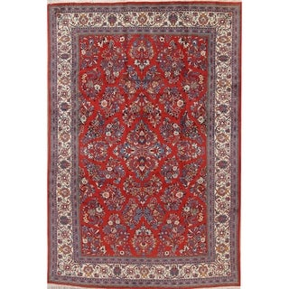 """Sarouk Floral Hand-Knotted Wool Persian Oriental Area Rug - 9'7"""" x 6'4"""""""